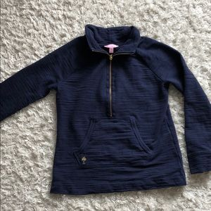 Lily Pulitzer 3/4 zip navy with gold detail XS